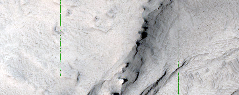 Flow Feature on Interior Layered Deposits of East Candor Chasma
