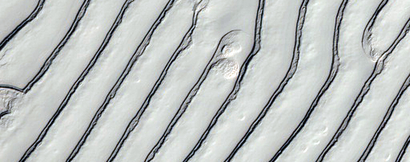 Sawtooth Pattern in Carbon Dioxide Ice