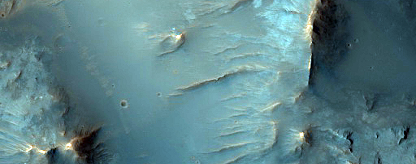 Well-Preserved Impact Crater with Prominent Central Uplift