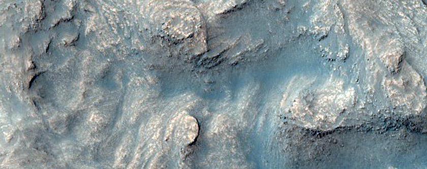 Disrupted Terrain on Crater Floor in Noachis Terra