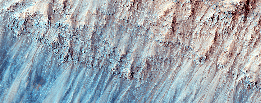 Dark Dunes and Grooves at Bottom of Coprates Chasma