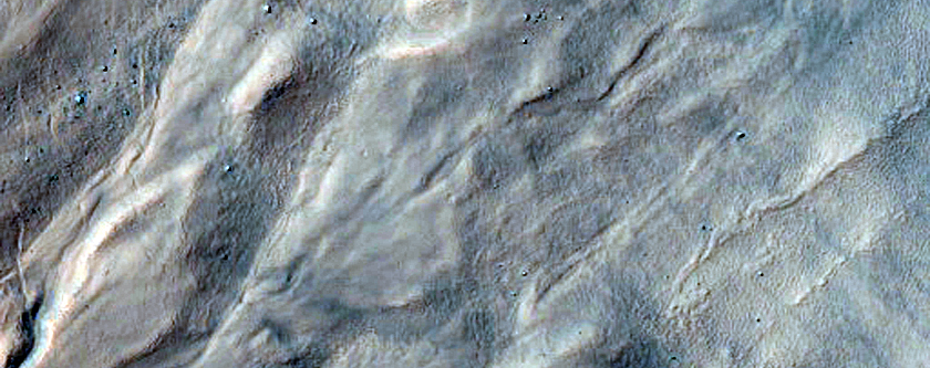 Western Slope of Asimov Crater