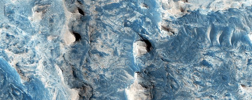 Stratigraphic Relations in THEMIS Image V11134006 in Sinus Meridiani