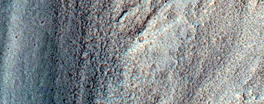 Viscous Flow Feature East of Hellas Planitia