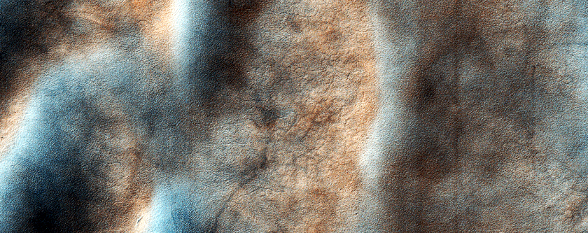 Unusual Dune Form along Inner Small Crater Rim