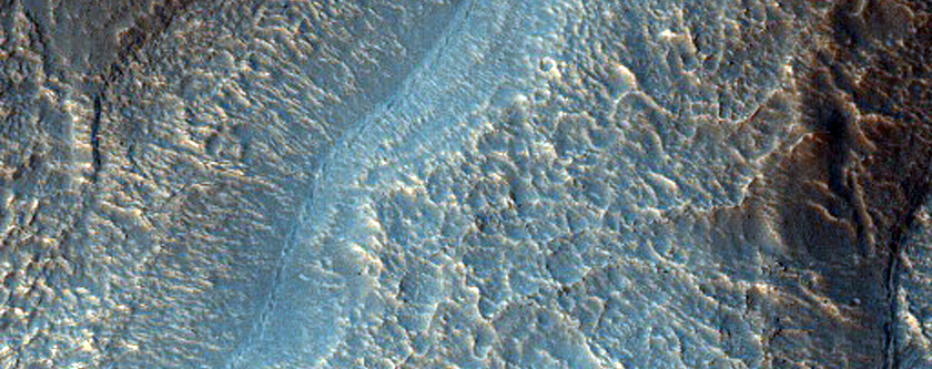 Tongue-Shaped Features within Alcoves on South Mid-Latitude Crater Wall