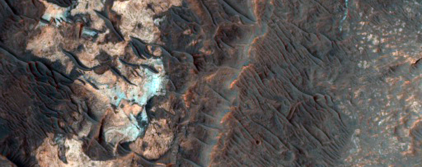Possible Inverted Meanders in Filled Channel West of Ladon Valles