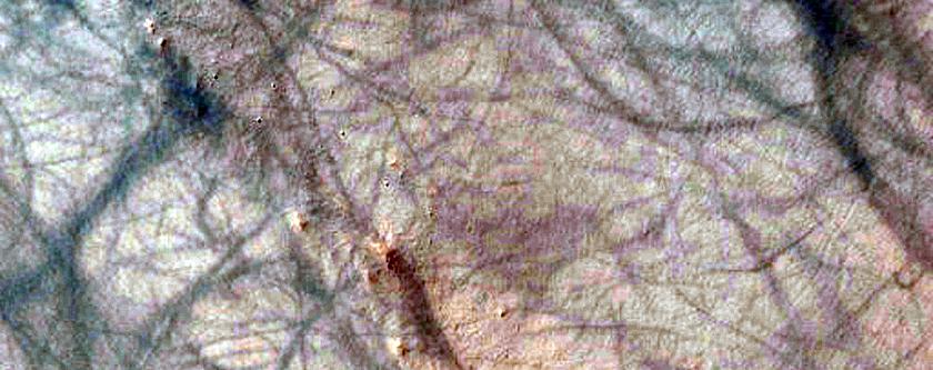 Change Detection in Gullies in Crater in Terra Cimmeria