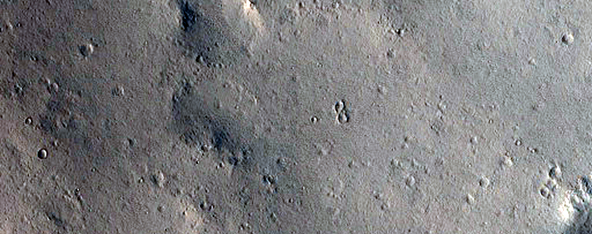 Valley with Central Ridge Located North of Schiaparelli Crater