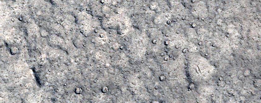 Wrinkle Ridge in Lunae Palus