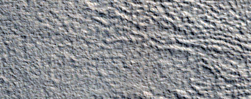 Possible Strandlines Observed in MOC R03-00521 in Acheron Fossae
