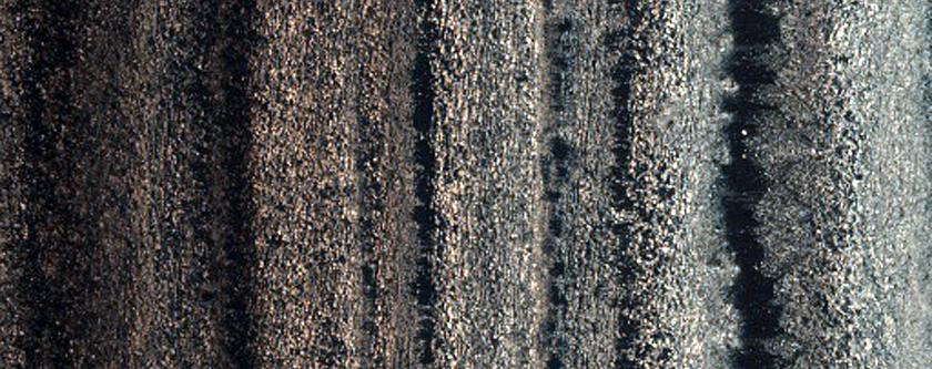 Western Edge of Layered Mound in Juventae Chasma