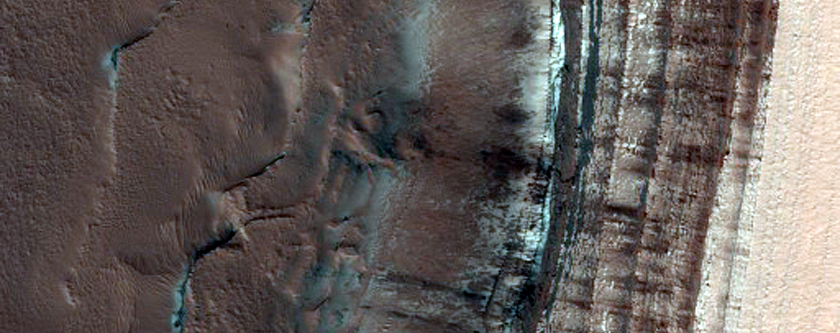 Monitor North Polar Scarp for Active Frost-Dust Avalanches