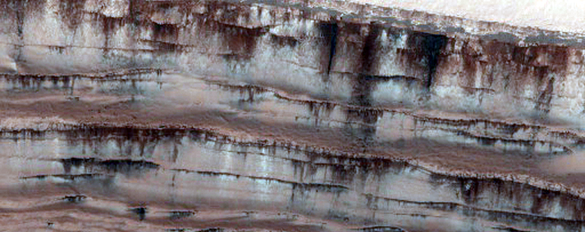 North Polar Scarp Testing for Occurrence of Frost-Dust Avalanches