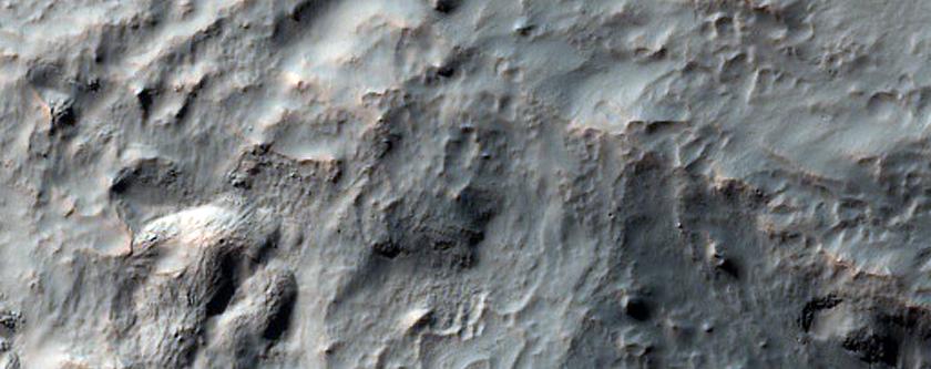 Flows Southwest of Hale Crater