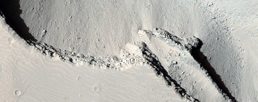 Cerberus Fossae East of the Head of Athabasca Valles