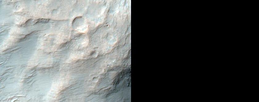 Crossing Wrinkle Ridges and Secondaries in Hesperia Planum