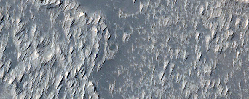 Very Large Pit Crater in Daedalia Planum