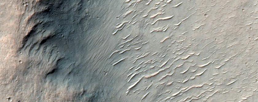 Wrinkle Ridges in Hesperia Planum