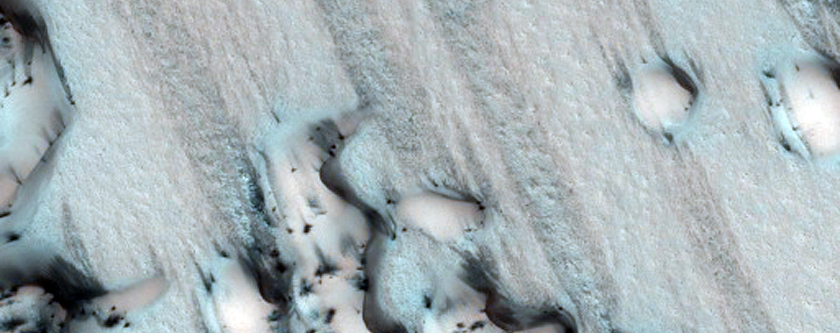 North Polar Dark Sand Dunes
