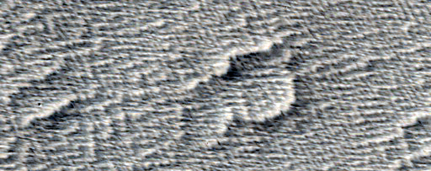 Lava Surfaces Northwest of Arsia Mons