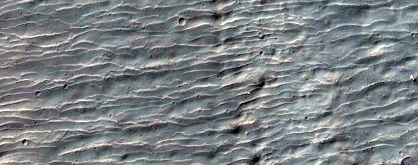 Craters in Ausonia Montes