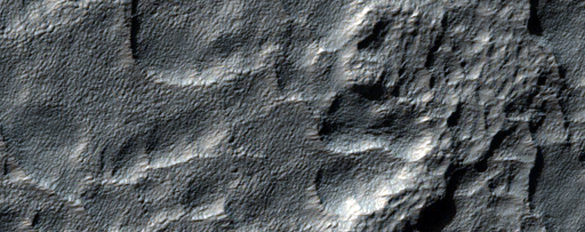 Fretted Terrain-Like Apron Material East of Hellas Planitia