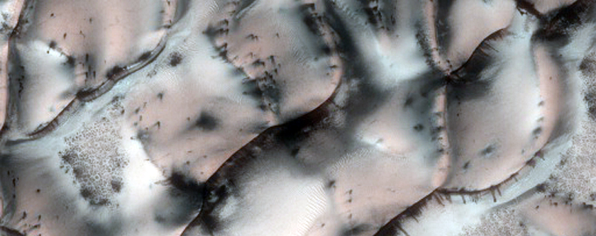 Translucent Ice in the North Polar Region