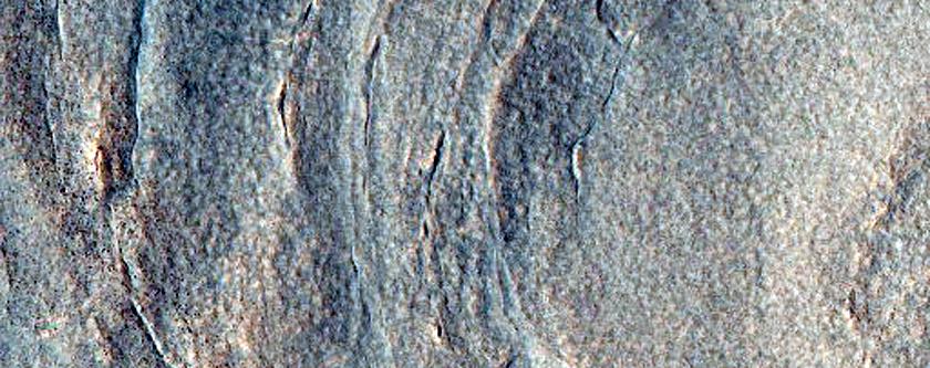 Crater in Utopia Planitia