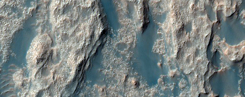 Deposits on the Floor of Palos Crater