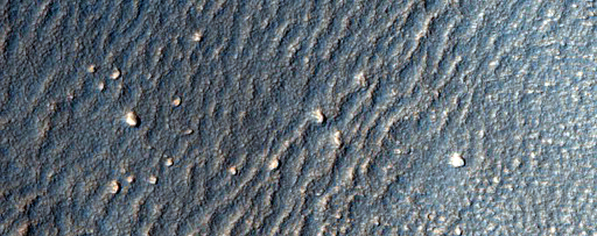 Lobate Debris Apron in Deuteronilus Mensae