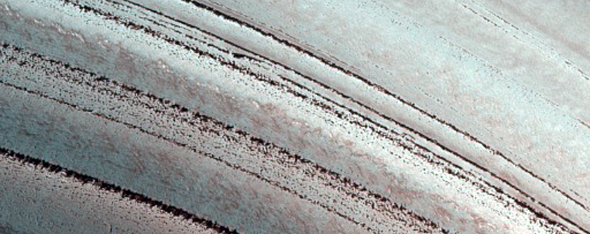 Icy Layers and Climate Fluctuations at the Martian North Pole
