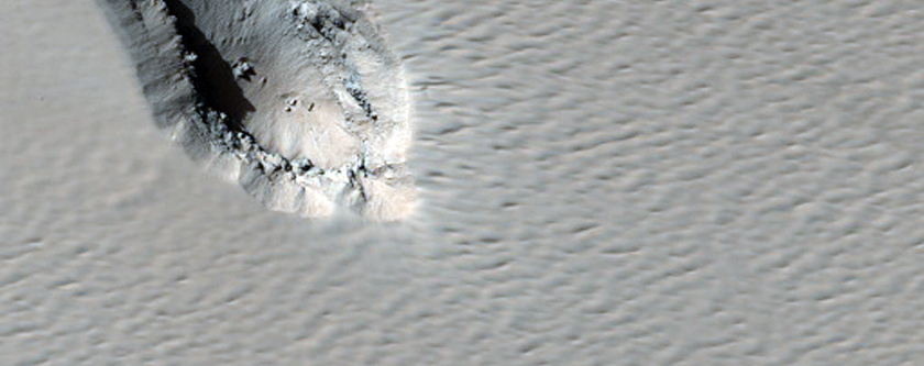 Chain of Pits on Arsia Mons