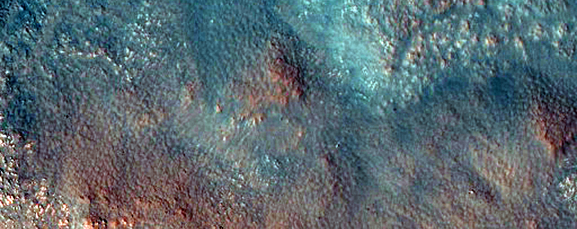 Megabreccia on Floor of Stokes Crater