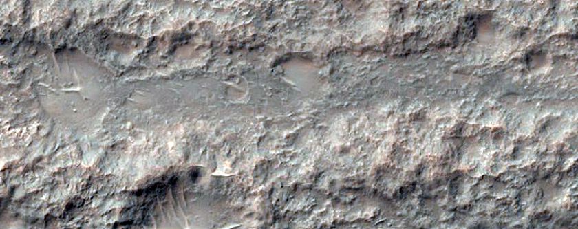 Star Dunes in Crater in Tyrrhena Terra
