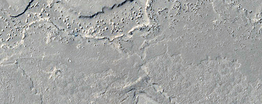 Persbo Crater Ejecta Covered by Lava Flows