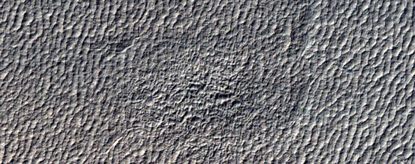 Crater in Hellas Planitia