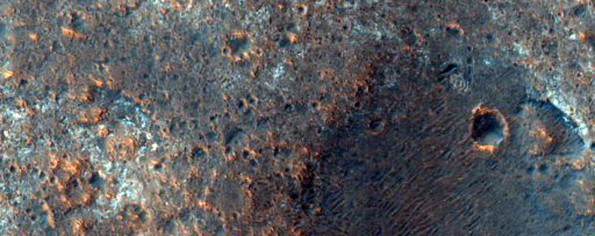 Outcrops in Mawrth Vallis