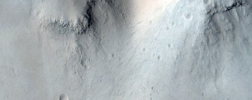 Stranded Lobe of Material with Associated Ridge on Valley Floor