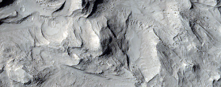 Central Peak of Large Impact Crater