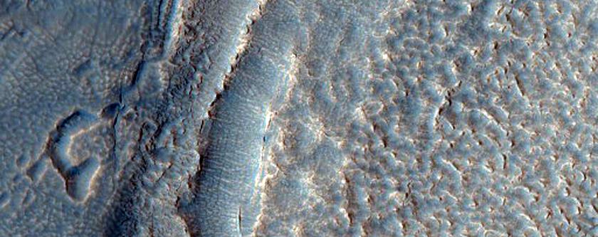 Debris Apron Terrain in Deuteronilus Mensae