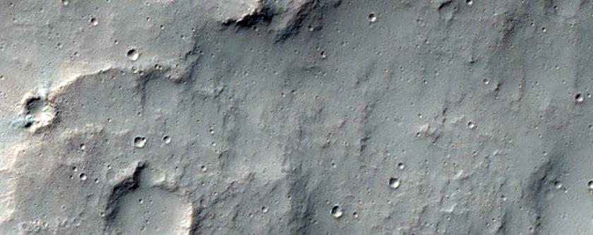 Contact between Noachian and Hesperian Plains