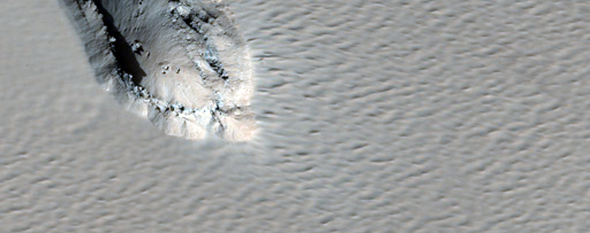Chain of Dust-Filled Pits on Arsia Mons