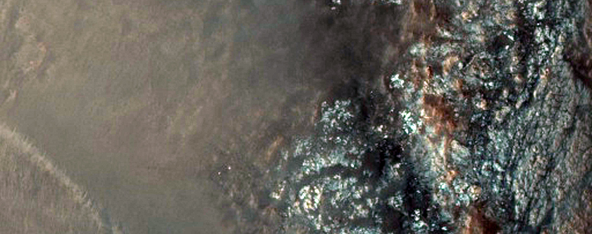 Possible Chlorites and Prehnite in Northern Plains Crater