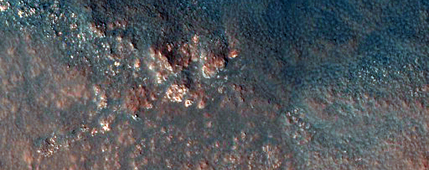 Megabreccia in the Central Uplift of Stokes Crater