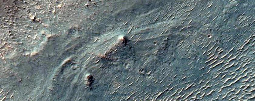 Light-Toned Rocks inside a Crater