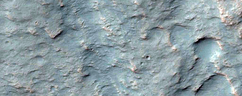 Alluvial Fan in Equatorial Crater