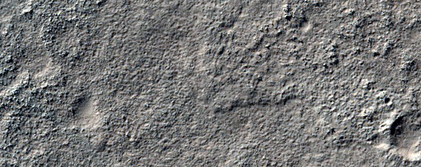 Dark Intercrater Material in Noachis Region