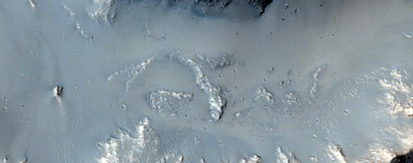 Impact Crater on Channel