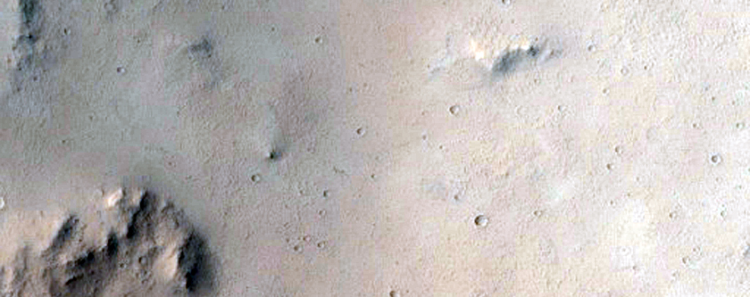 Crater near Hecates Tholus
